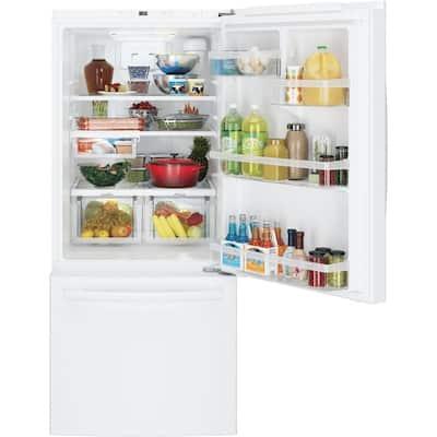 21 cu. ft. Bottom Freezer Refrigerator in White, ENERGY STAR