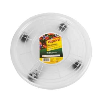 16 in. Clear Plastic Plant Caddy