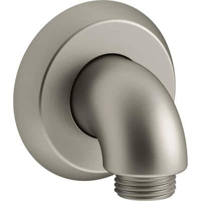Forte 1/2 in. 90-Degree Hub Brass Wall-Mount Supply Elbow with Check Valve in Vibrant Brushed Nickel