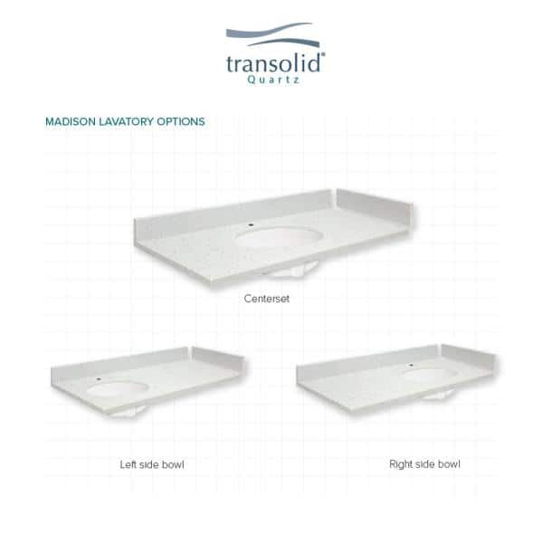 Transolid 61 25 In W X 22 25 In D Quartz Vanity Top In Black Carrara With Single Hole White Basin Vt61 25x22 1ou 6b A W 1 The Home Depot