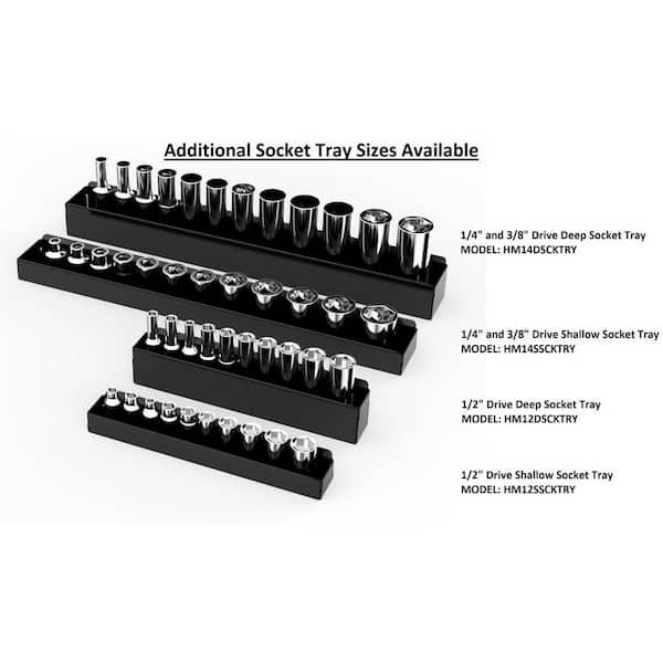 "1//4/"" 3//8/"" 1//2/"" smart drive socket tray rail rack storage holder organizers ty1"