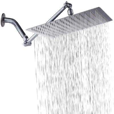 Single-Handle 1- -Spray Shower Faucet adjustable rain shower head in Chrome Without Handle (Valve Included)