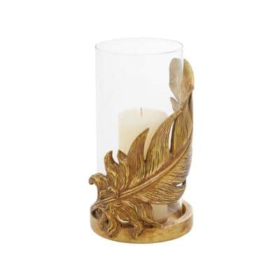Gold Glass Traditional Candle Holder