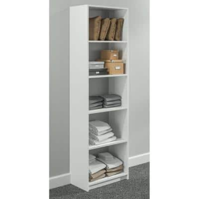 84 in. H x 24 in. W White Shelving Tower Kit