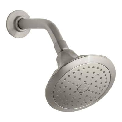 Memoirs Classic 5.5 in. 1-Spray Single Wall Mount Fixed Shower Head, Brushed Nickel