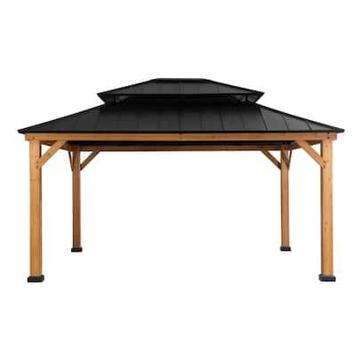 Archwood 13 ft. x 15 ft. Cedar Framed Gazebo with Steel Hardtop