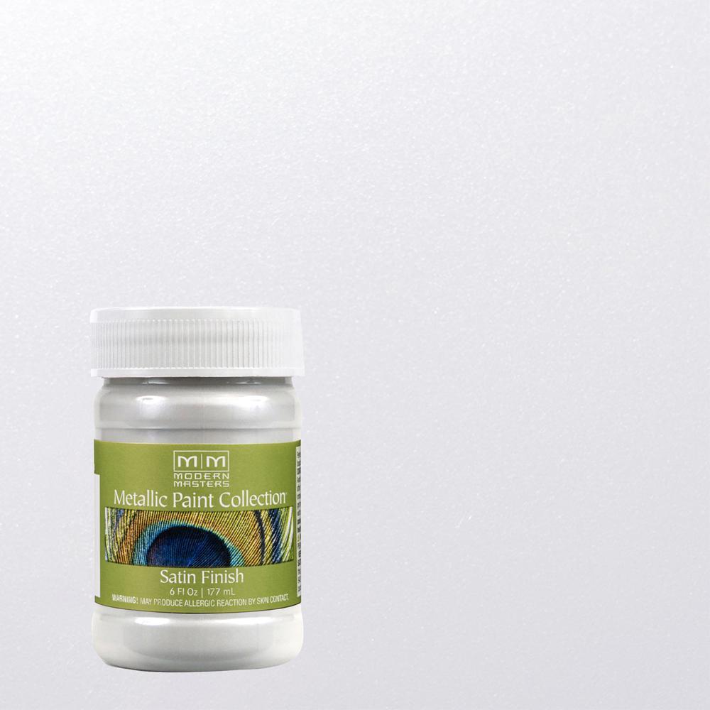 6 oz. Snowflake Water-Based Satin Metallic Interior Paint