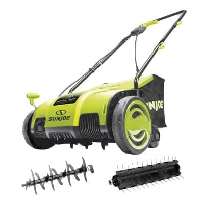 13 in. 11.5 Amp Electric Lawn Dethatcher with Collection Bag