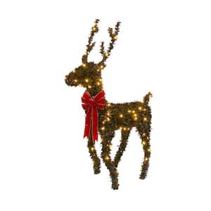 36 in. H Electric Brown PVC Reindeer