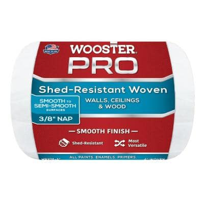 4 in. x 3/8 in. High-Density Pro Woven Roller Cover