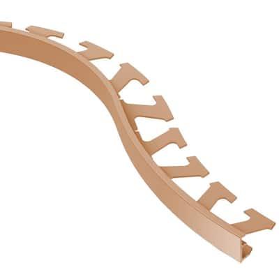 Jolly Satin Copper Anodized Aluminum 1/2 in. x 8 ft. 2-1/2 in. Metal Radius Tile Edging Trim
