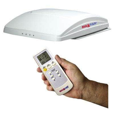 MaxxFan Deluxe with Remote - White