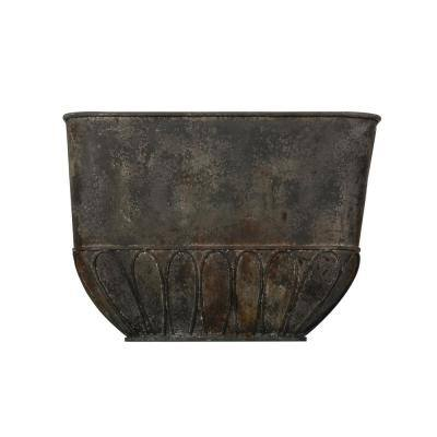47 in. L x 33 in. H Off-White Canvas-Feed-Sack-Shaped Cement Planter