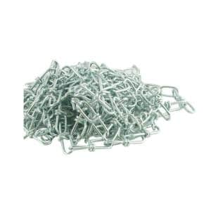 #1 x 10 ft. Zinc Plated Steel Double Loop Chain