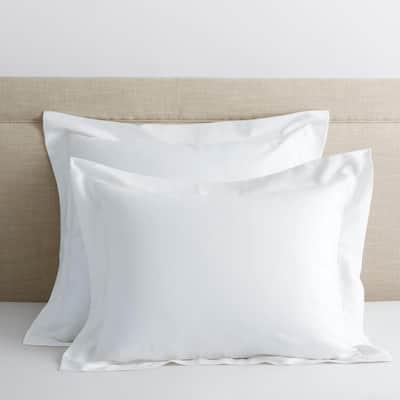 Legends Hotel White 300-Thread Count TENCEL Lyocell Sateen Standard Sham