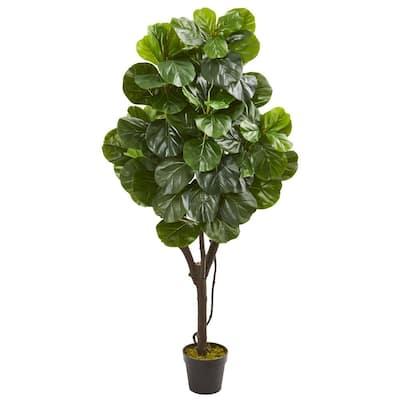 5 ft. Indoor Fiddle Leaf Fig Artificial Tree