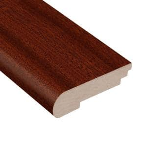 Matte Corbin Mahogany 3/8 in. Thick x 3-1/2 in. Wide x 78 in. Length Stair Nose Molding