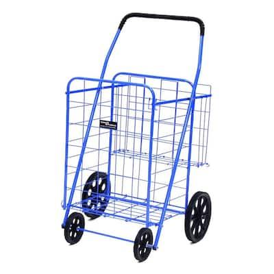 Jumbo Plus Shopping Cart in Blue