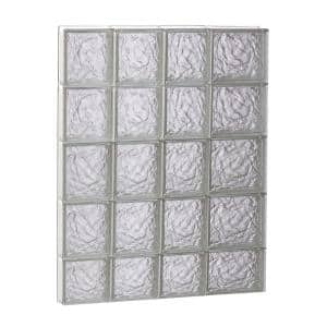 25 in. x 36.75 in. x 3.125 in. Frameless Ice Pattern Non-Vented Glass Block Window