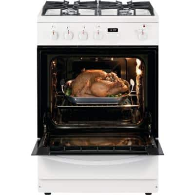 24 in. 1.9 cu. ft. Freestanding Gas Range with Manual Clean in White