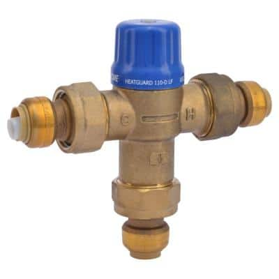 1/2 in. Brass Heat Guard 110-D Thermostatic Mixing Valve