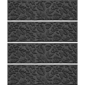 Fall Day 8.5 in.x 30 in. Stair Treads (Set of 4) Charcoal