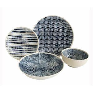 Dalton 16-Piece Blue Dinnerware Set