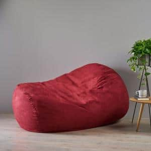 Barracuda Chinese Red Suede Bean Bag Cover
