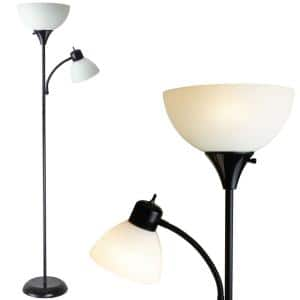 71 in. William Torchiere Floor Lamp with Reading Light