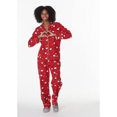 Family Flannel Company Cotton™ Women's Pajama Set in Santa