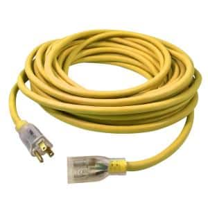USW 25 ft. 14/3 Yellow Extension Cord with Lighted Plug
