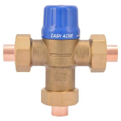 1/2 in. HG110-D Copper Sweat Thermostatic Mixing Valve