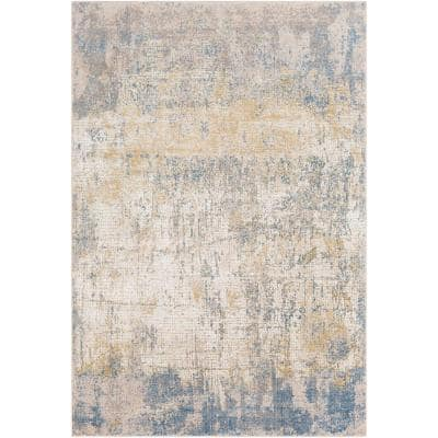 Halina Blue 5 ft. 3 in. x 7 ft. 3 in. Distressed Area Rug