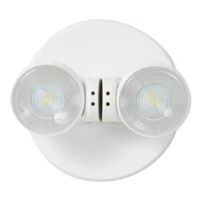 APWR 25-Watt White Integrated LED Emergency Light with 2 Remote Heads