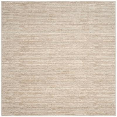 Vision Cream 9 ft. x 9 ft. Square Solid Area Rug