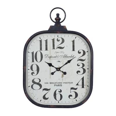 Black Metal Vintage Wall Clock
