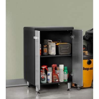 Metallic Series 35 in. H x 24 in. W x 21 in. D 2-Door Base Cabinet for Garage