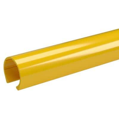 1 in. x 0.33 ft. Yellow PVC Pipe Clamp Material Snap Clamp (2-Pack)