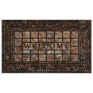 Calloway Mills Periwinkle Border 18 In X 30 In Monogram L Door Mat 153021830l The Home Depot
