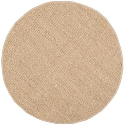 Natural Fiber Tan/Beige 5 ft. x 5 ft. Round Indoor Area Rug