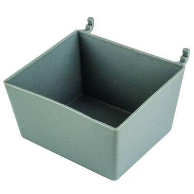 Plastic Peggable Utility Bin in Gray 1/4 in 6 lbs