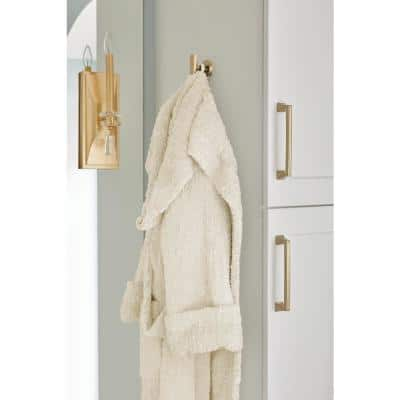 Arrondi Wall Mount Single Robe Hook in Brushed Bronze/Golden Champagne