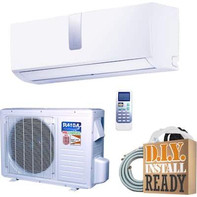 DIY Super Efficiency 12,000 BTU 1 Ton Inverter Ductless Mini Split Air Conditioner and Heat Pump - 110V/60Hz