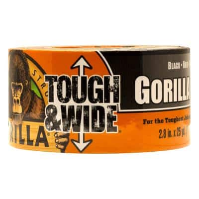 25 yds. Tough and Wide Black Duct Tape