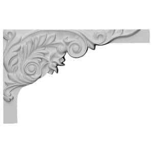5/8 in. x 11 in. x 7 in. Polyurethane Right Springtime Stair Bracket Moulding