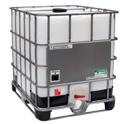330 Gal. Transportable Storage Tank (IBC) with Cage and Integrated Pallet