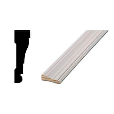 WM 376 11/16 in. x 2-1/4 in. Primed Finger-Jointed Casing Set contains premitered 36 in. header and sides (3 pieces)