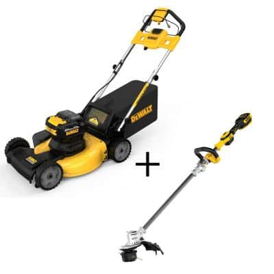 21.5 in. 20-Volt Li-Ion Cordless Battery Walk Behind Self Propelled Mower w/20V Brushless String Trimmer (Tool Only)