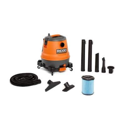 12 Gal. 6.5-Peak HP Motor-On-Bottom Wet/Dry Shop Vacuum with Fine Dust Filter, Hose and Accessories
