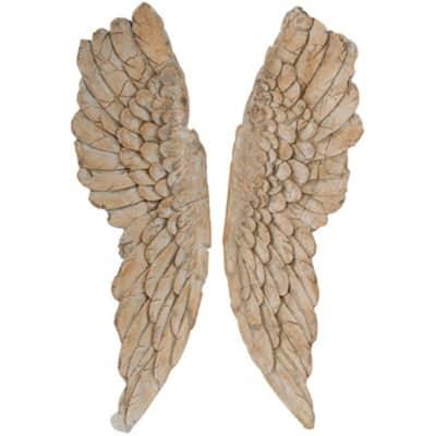 Angel Wings Brown Statue Wall Art (Set of 2)
